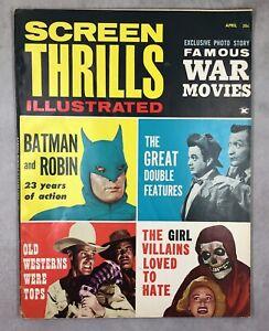 Screen Thrills Illustrated #4 Warren Publishing Vintage Movie Magazine Batman