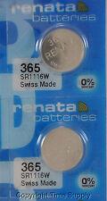 2 pc 365 Renata Watch Batteries Sr1116W Free Ship 0% Mercury