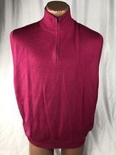 Polo Golf Ralph Lauren Men's XL Pink Wool Sweater Vest MSRP $145 D11
