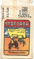 1960's Montana Bonanza State Vintage Baxter Lane Orig Travel Decal sticker Butte