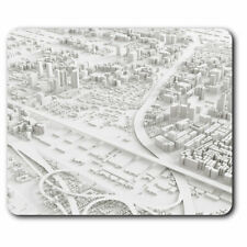Computer Mouse Mat - Cool 3D City Model Aerial Cityscape Office Gift #16323