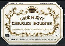 Etiquette de Vin - Cremant de Bourgogne - New - Never Stuck - Réf.n°93