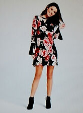 4b7cd93d2b6 (NWT) Beautiful Xhilaration Women s A Line Black Floral Dress Size Medium