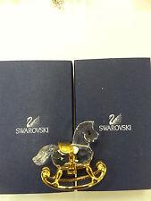 Swarovski Cristal Recuerdos Rocking Horse-Nuevo, Perfecto Estado # 199447
