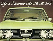 Alfa Romeo Alfetta Saloon 1975-77 UK Market Sales Brochure 1.6 1.8