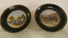 Vintage Wall Plates Royal Sealy China   Japan  Set of 2