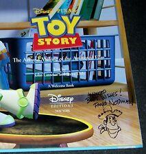 SIGNED + Sketch! Floyd Norman ART & MAKING TOY STORY 1st HOLOGRAM Disney PIXAR