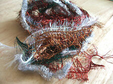 5m Tinsel Ribbon/cord - 25mm Assorted colours for crafts/gift wrapping