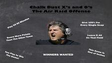 "Air Raid Texas Tech Drills Coaching Football Dvd Playbook ""Hot Item"""