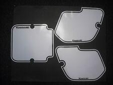 Number Backgrounds Kawasaki KX125 KX250 KX500 1987 WHITE Decals KX 125 250 500