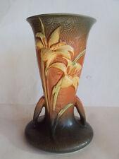 "Vintage Original Roseville Zephyr Lily 136-9"" Tall Vase. Beautiful Look!"