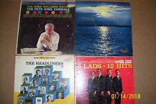 Lot of 4 Vintage Pre-Owned Vinyl Albums:Williams/King,Headliners,4 lads,keynotes