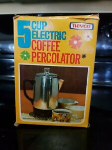 VNTG NEW NEVCO 5 Cup  ELECTRIC Percolator Coffee Pot