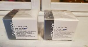 Qty 2, Avon Anew Clinical Eye Lift Pro Dual Eye System, NIB, NOS, Sealed