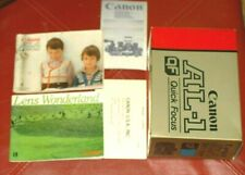 Canon Al-1 camera Instructions, Manual, English + Other Papers & Box For Black