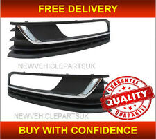 VW PASSAT B7 2011-2014 FRONT BUMPER FOG GRILLE W/ HOLE CHROME PAIR LEFT & RIGHT