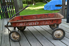 Vintage Hamilton Greyhound Childs pull  wagon Ball Bearing Wheels