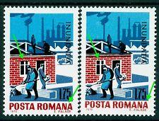 1970 Flood,Workers,Truck,Rebuilding destroyed houses,Romania,Mi.2886,Error/1,MNH