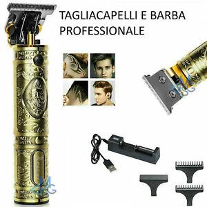 TAGLIA CAPELLI PROFESSIONALE REGOLA BARBA TRIMMER RASOIO ORO ELETTRICO USB