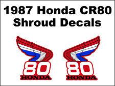 Tank decals for 1987 Honda CR80 Dirtbike    CR80r CR 80