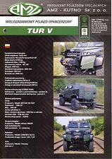 AMZ Tur V catalogue brochure military infantry mobility vehicle