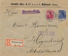 Lettre Recommandée Mulhausen Censure Mulhausen Gepruft Germany Brief Cover