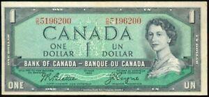 P-74a 1954 CANADA $1 BANKNOTE Beattie, Coyne NEF X/M