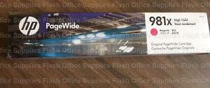 HP 981X Magenta L0R10A High Yield PageWide 556 586 Cartridge VAT INC FASTPOST