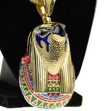 "Chain Gold Finish 36"" Franco Necklace Horus Falcon Egyptian Bird God Hip Hop"