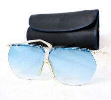 YSL Yves Saint Laurent sunglasses vintage aviator blue gradient large rimless