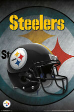 PITTSBURGH STEELERS Official Team Logo Helmet Design NFL WALL POSTER
