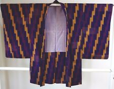 Kimono Dress Japan Vintage haori coat Geisha costume used silk 1610A6S22