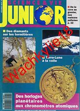 Science et vie junior n°21 du 12/1990 Horloges Termitières Pollution