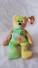 MWMT RARE TY BEANIE BABY Peace color bear 1996 with ALL errors.