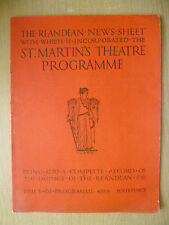 St. Martins Theatre Programme- IN THE NEXT ROOM by Eleanor Robson, H Ford
