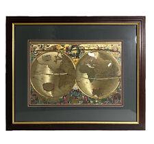 Nova Totivs Terrarvm Orbis Geographica Tabvla Gold Foiled World Map 23x19