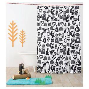 NEW Forest Friends Fabric Shower Curtain, Woodland Creatures, Pillowfort