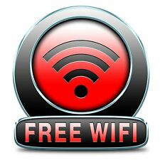 Free Wifi Here Sticker Decal Graphic Vinyl Label V4