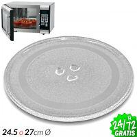Plato para Microondas diametro Ø 245mm o Ø 270mm Universal 24.5cm 27cm Vidrio