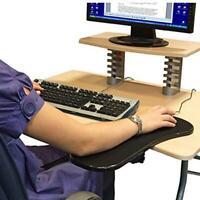 Computer Armrest Adjustable Arm Wrist Rest Support Mouse Pad for Desk / Chair BK