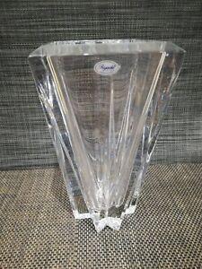 Rogaska vase Square Diamond crystal
