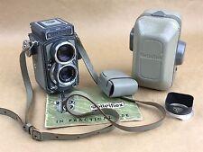 Rollei Rolleiflex Baby Grey TLR 4x4 camera, w/ Schneider 60/3.5 Xenar - Nice Set