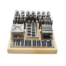 40PC Doming Dapping Set Doming Punch Block Set Jumbo 40PC Heavy Duty Steel