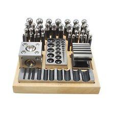 40PC Doming Dapping Set Doming Punch Block Set Jumbo 40PC Heavy Duty Steel