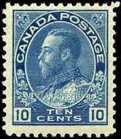 Canada #117a mint F-VF OG NH DG 1922 King George V 10c blue Admiral Dry Printing
