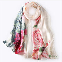 100% silk scarf long satin silk scarf with hand-rolled hemming