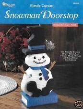 SNOWMAN DOORSTOP  PLASTIC CANVAS PATTERN