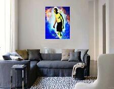 "BORACK OBAMA. Original Painting 11"" x 8"" on paper  By Roldan West. W/COA"