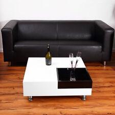 Couchtisch Beistelltisch Wohnzimmertisch Tisch Glastisch Design Weiß/schwarz NEU