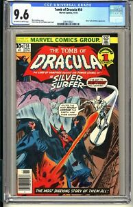 "Tomb of Dracula #50 (Marvel, 11/76) CGC 9.6 NM+ ""Silver Surfer vs Dracula"" BLADE"